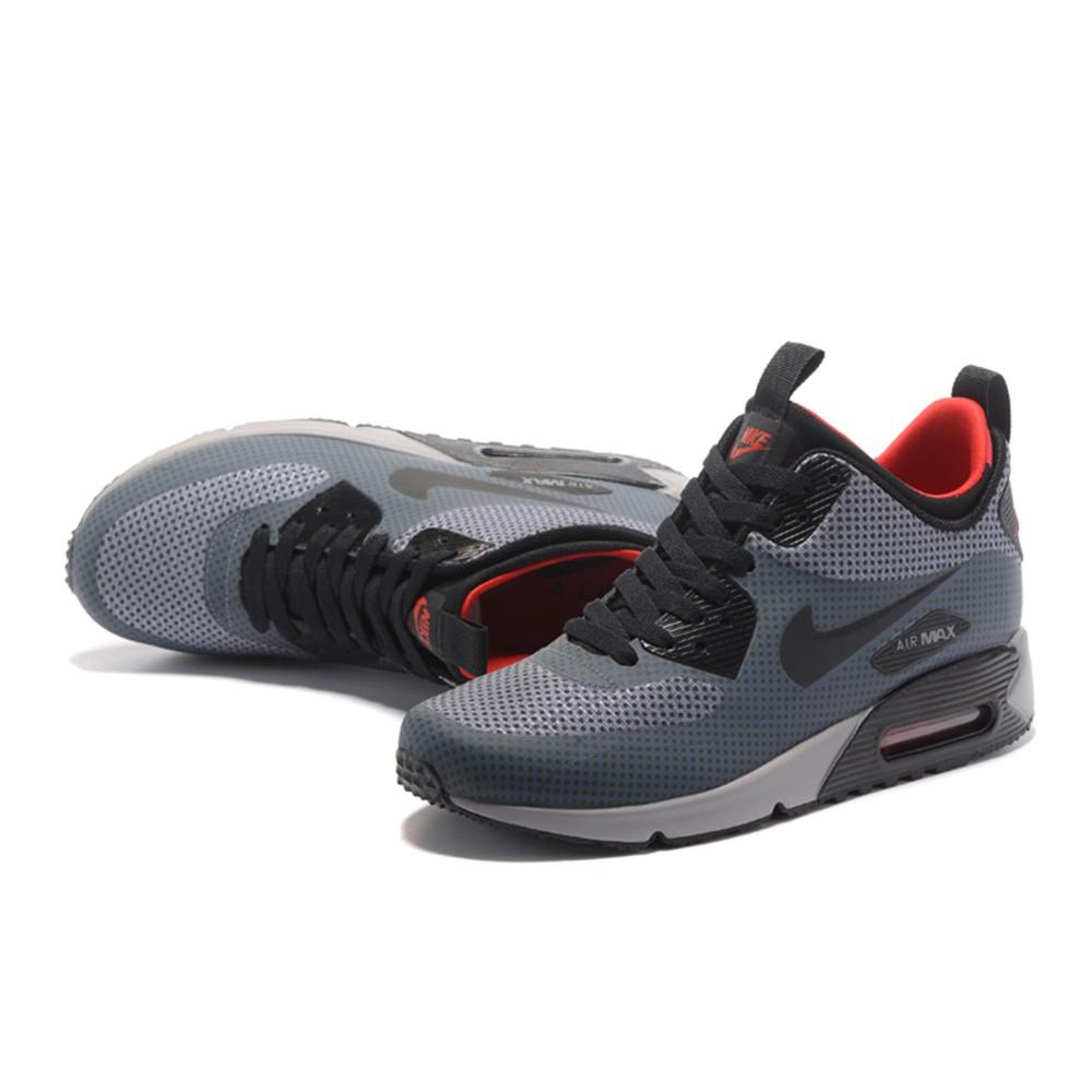 Original NIKE AIR MAX 90 UTILITY Sports Shoes Fashion Shoes Mens Grey Black
