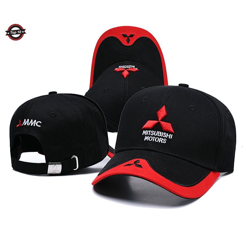 Men and Women Unisex Mitsubishi Motors Logo Casual Style Six Panel Adjustable Baseball Cap Dad Hat Black