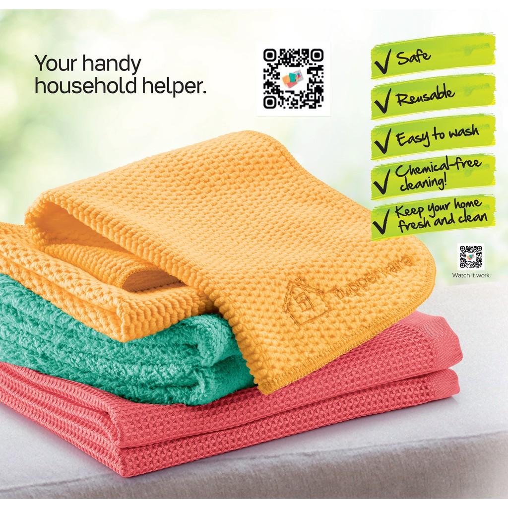Tupperware Microfiber Set (3pcs) / Dust Towel / Multi-purpose Towel / Window Towel (1pc)