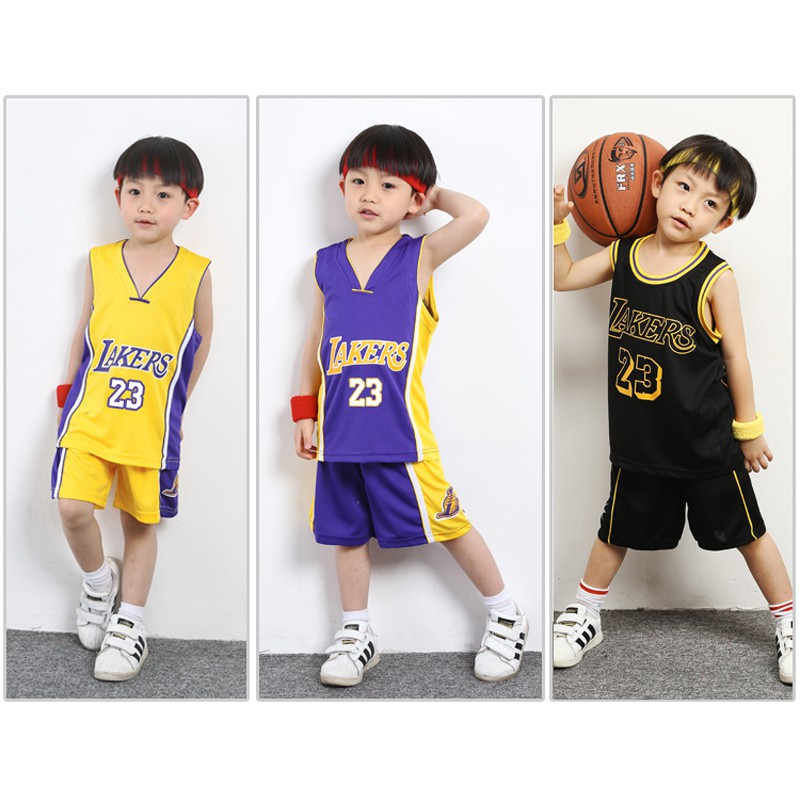 NBA Los Angeles Lakers No.23 LeBron James Kids Basketball Jersey ...