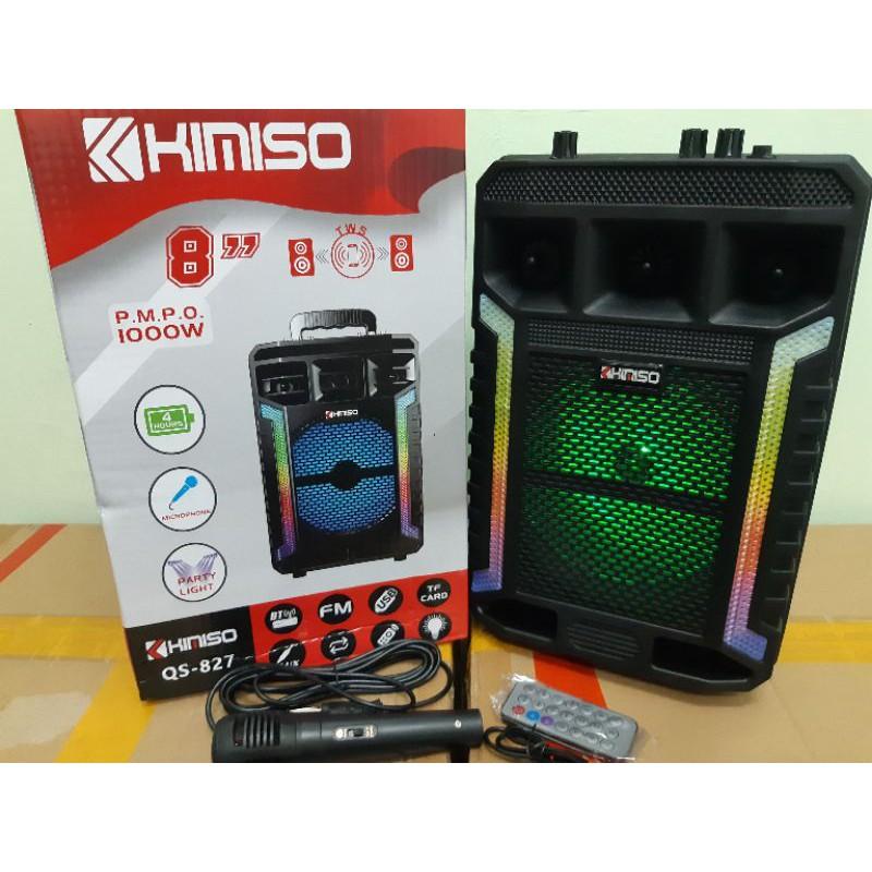 FREE MICROPHONE RADIO KIMISO QS827 wireless Bluetooth Speaker Disco Light with free mic