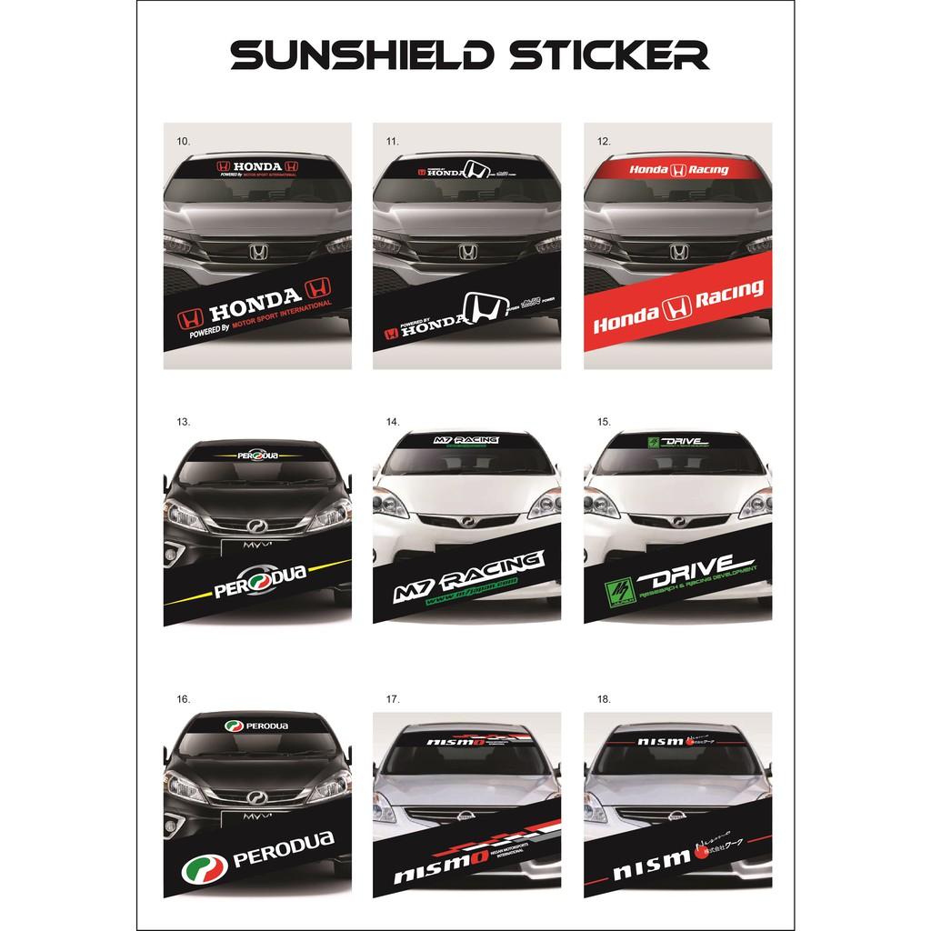 Universal Car Windscreen Sticker Front/Rear (132cm (L) x 25.5cm (W) (YS10-18)