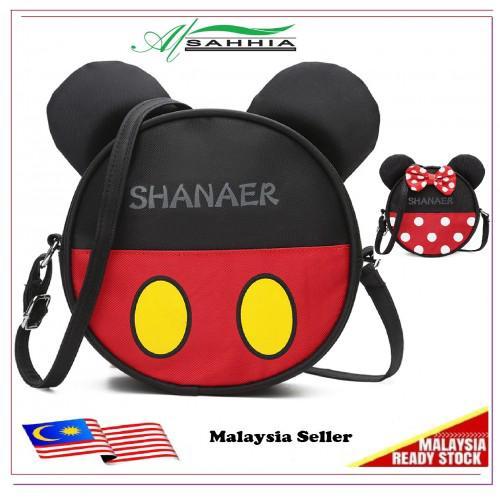 af782ec70 5W4 Al Sahhia Ready Stock Shanaer Mickey Minnie Round Bag | Shopee Malaysia