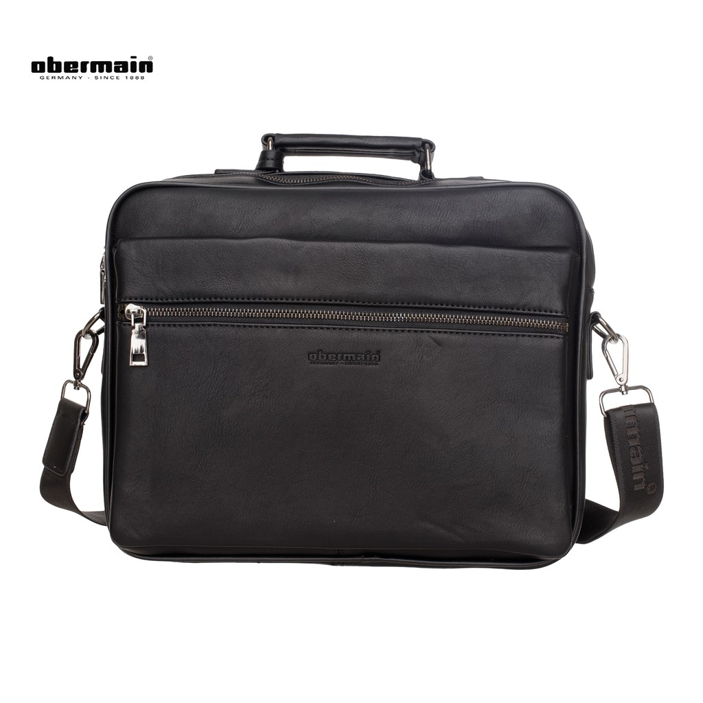 Obermain Men s Messenger Bag- Black  f1d8f7d816