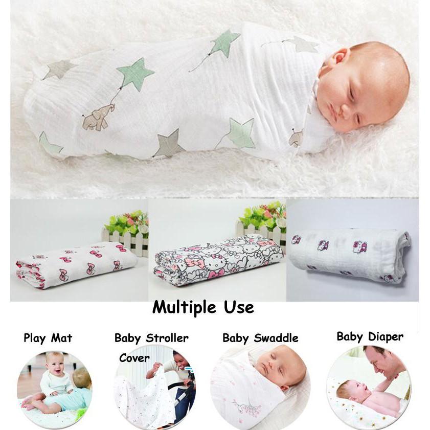 Baby Blanket/Swaddle/Bedung Bayi   Shopee Malaysia