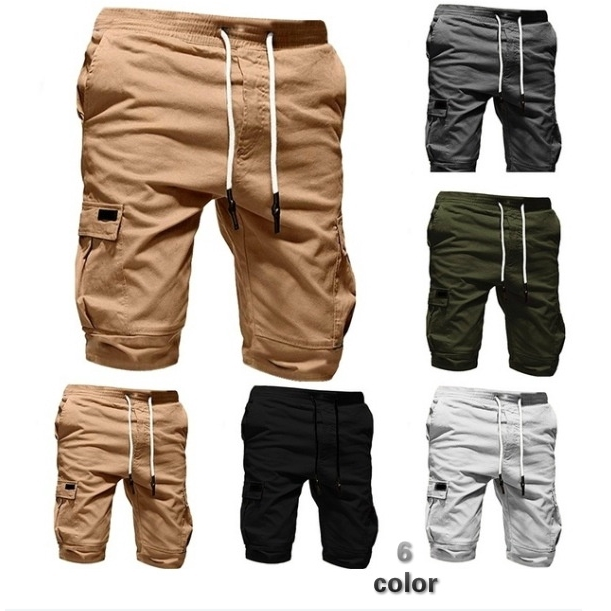 High Quality Mens Shorts Sport Shorts Multi-pocket Short Trouser Summer  Pants   Shopee Malaysia
