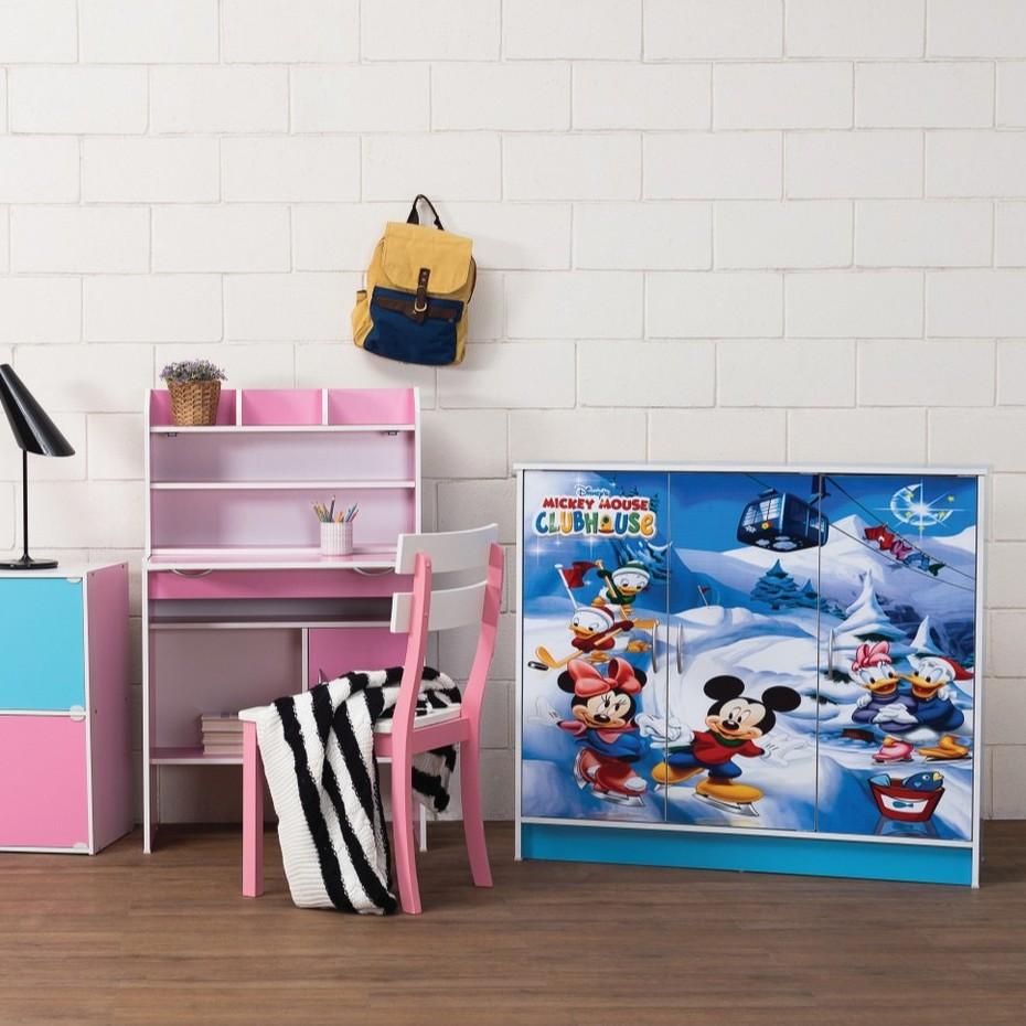 CrisHome - 4FT WONDERLAND Cartoon Kids Cabinet / Children Wardrobe ( Free Delivery to WM )