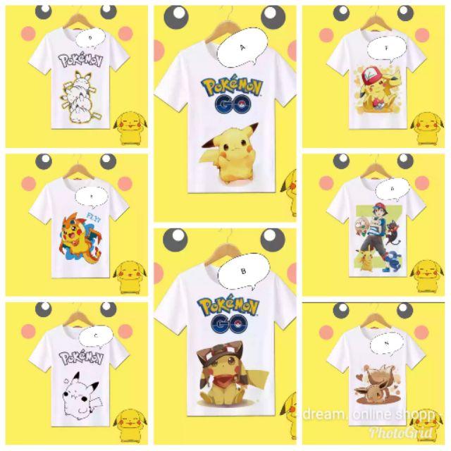 Unisex and kids Pokemon Go Pikachu Go Poke Ranger printed T shirt