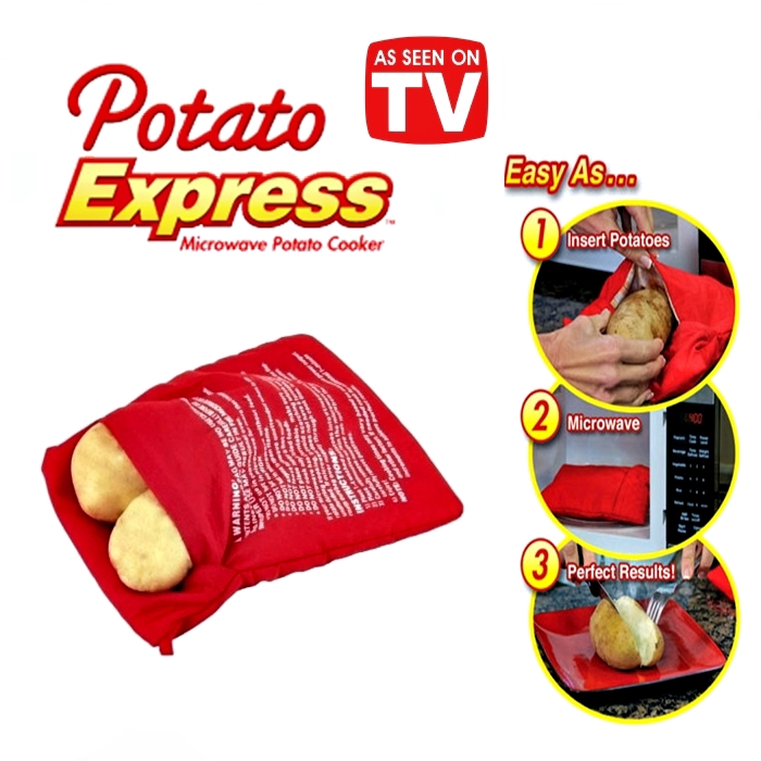 Microwave Potato Express Cooker Bag Cook Potatoes Just in 4 Minutes