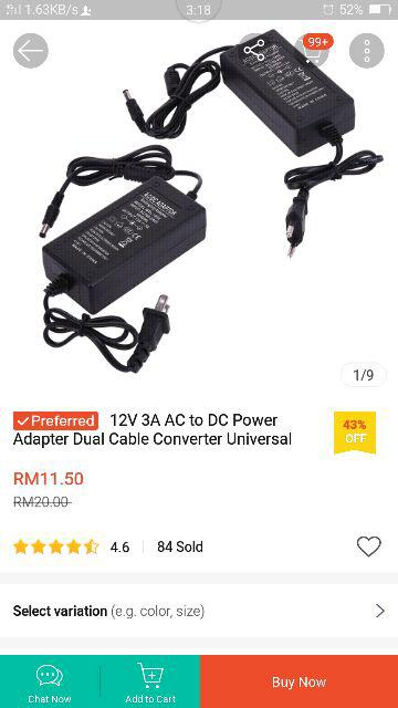 Dc 12v 3a Adapter