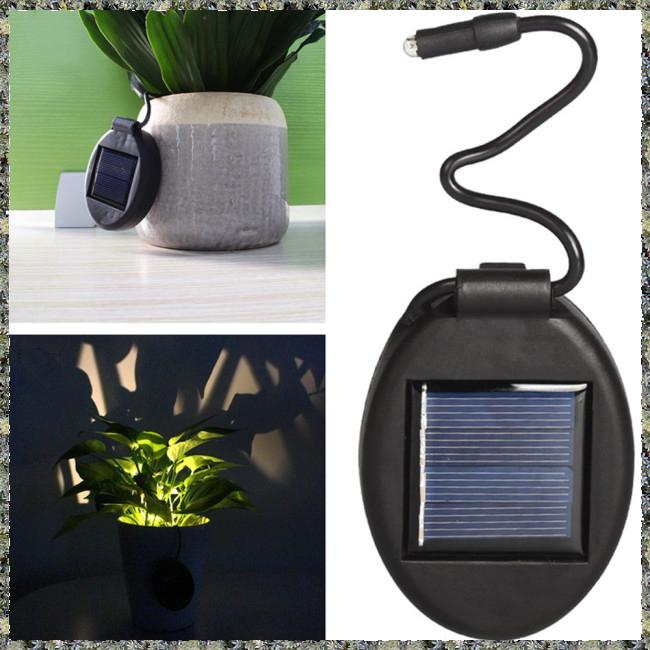 Shopee & 2Pcs Solar Powered Flower Pot Lamp for Lighting Black Shell ...