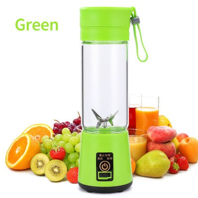 Juice Blender Fruit Mixed USB Reachargeable Bottle Mini Juice Cup 400ml 2/4/6Blade Portable Electric