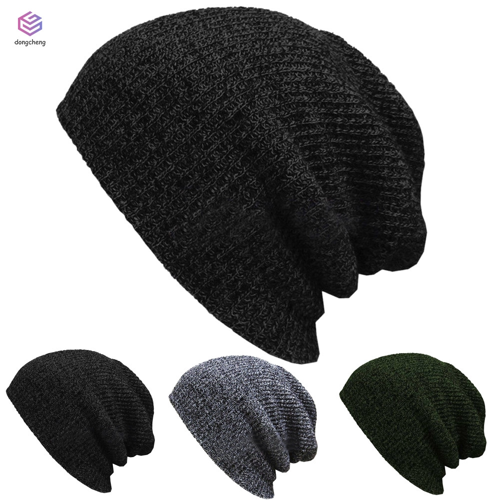 Skull Caps Coloured Parrot Winter Warm Knit Hats Stretchy Cuff Beanie Hat Black