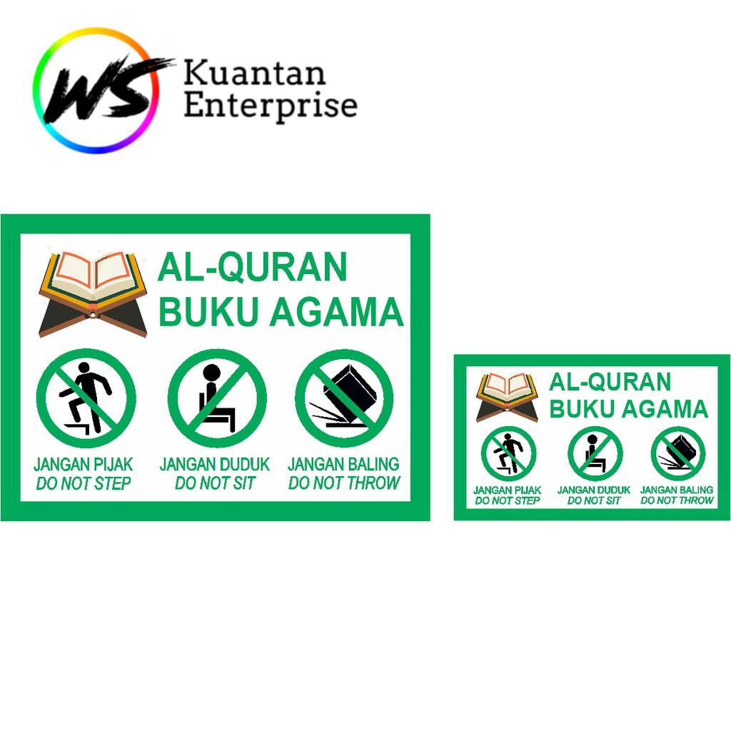 【100% Ready Stock】WATERPROOF STICKER Al-Quran Sticker / Buku Agama Sticker / Fragile Courier Label Sticker -100pcs