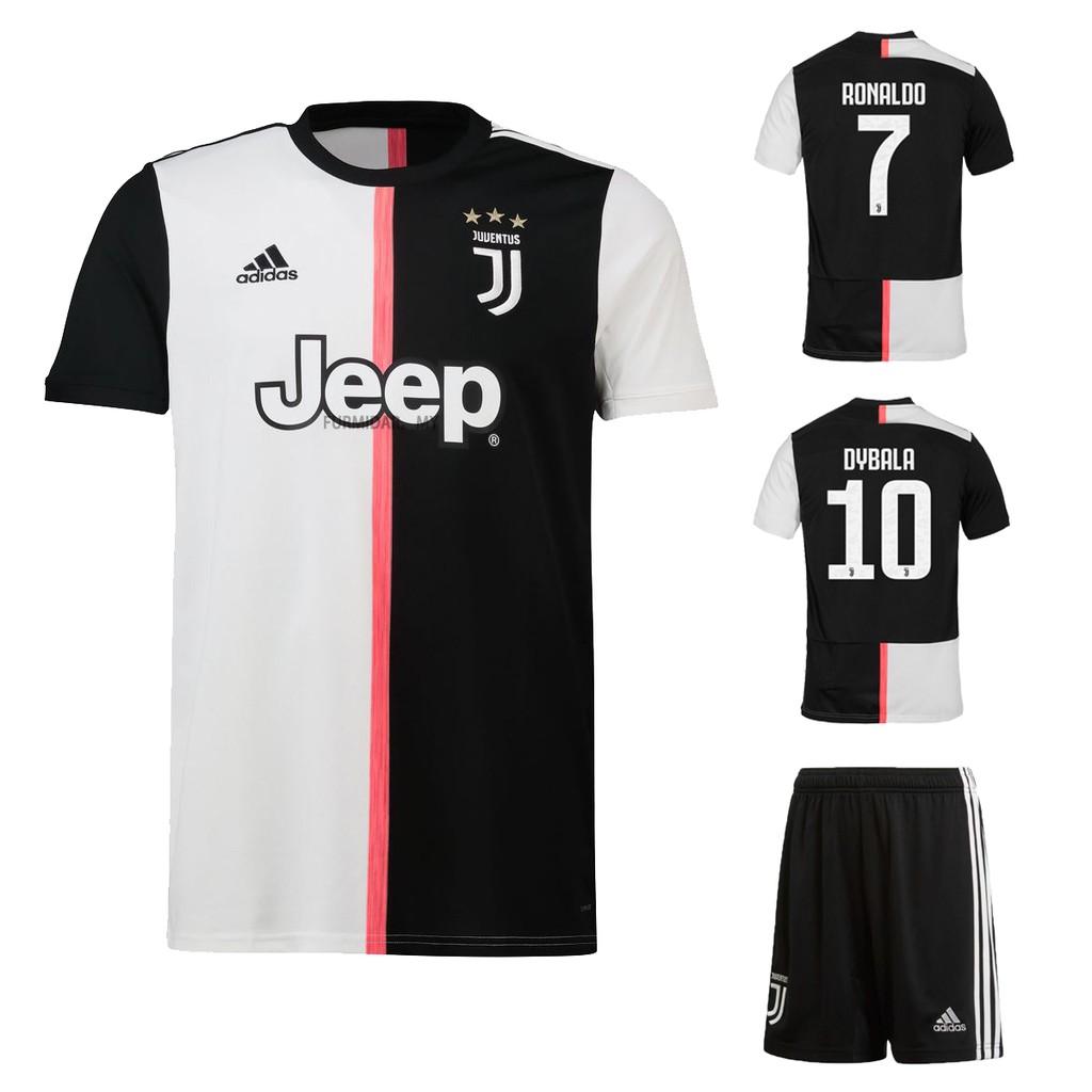 low priced 496b6 bda58 Juventus Home 2019-2020 Football Jersey With shorts Jersi #7 RONALDO #10  DYBALA