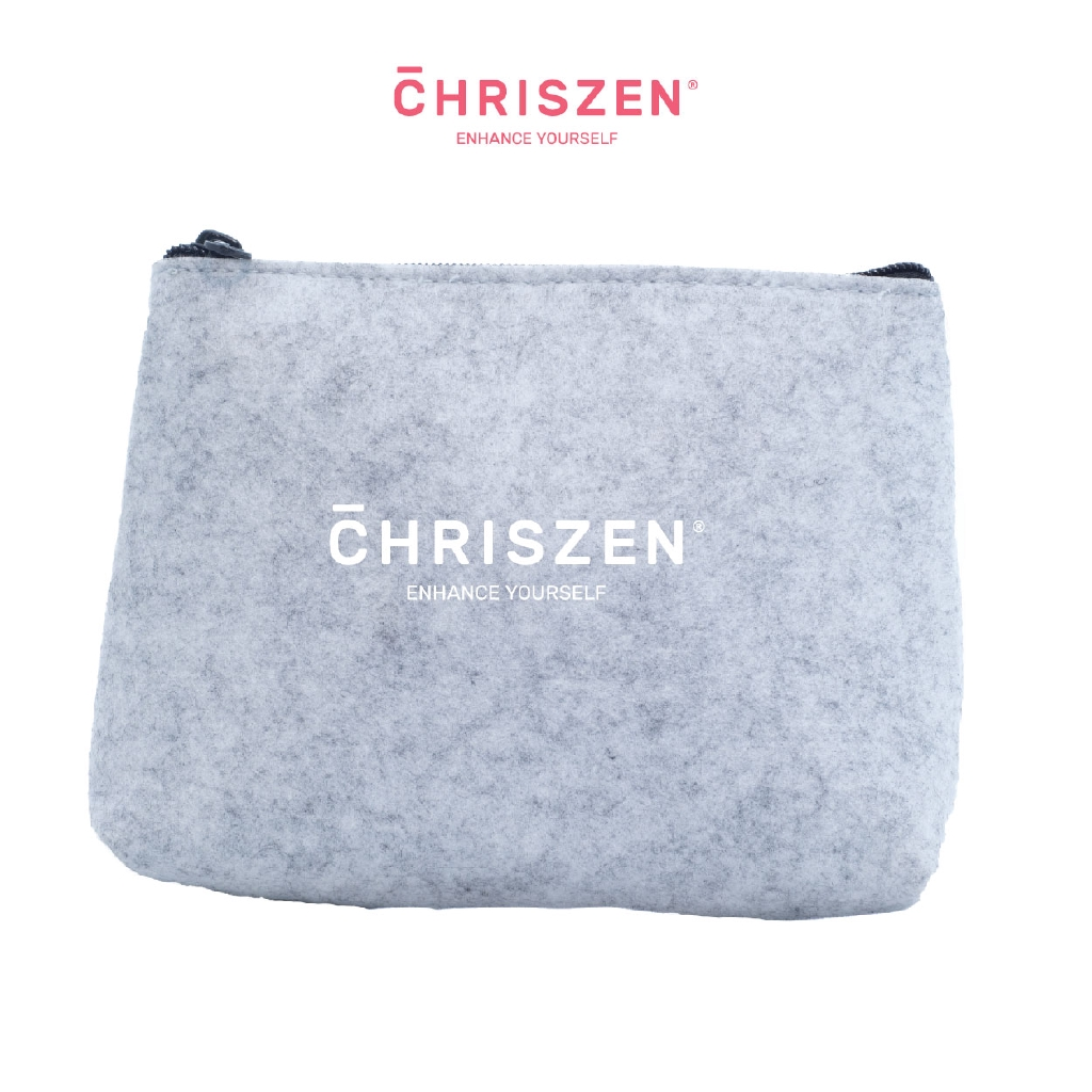 Chriszen Wool Felt Handy Cosmetic Pouch - 3 Colors Selection