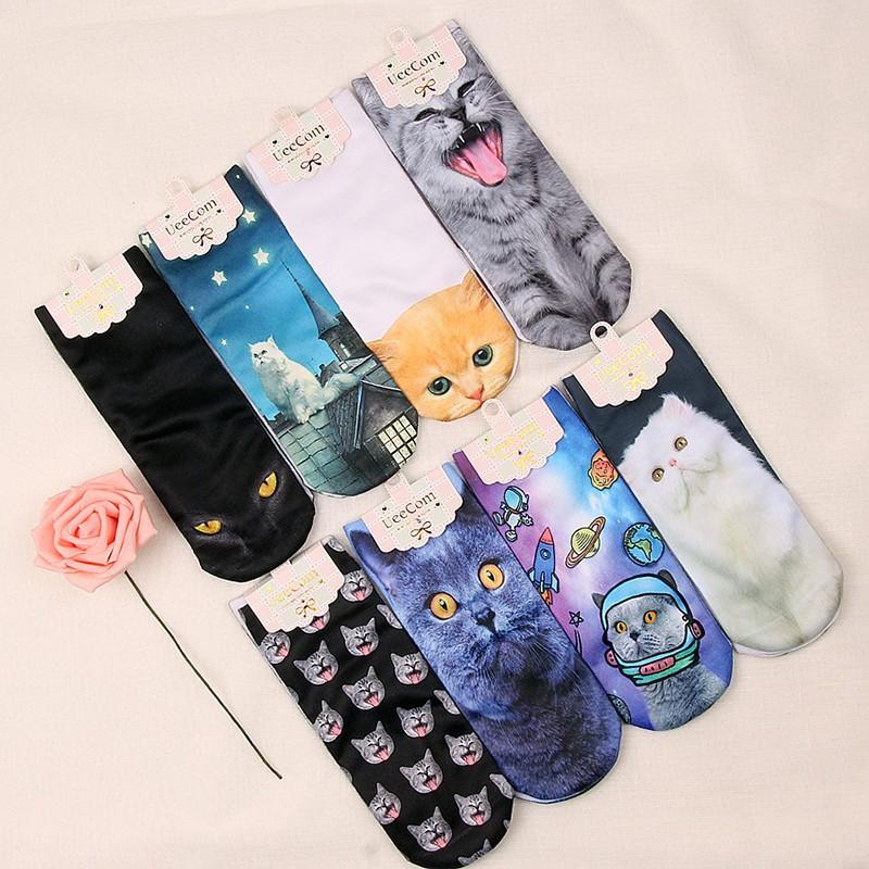 Girls/&Boys Mix Designs Harajuku 3D Printed Multicolor Cute Low Cut Ankle Socks