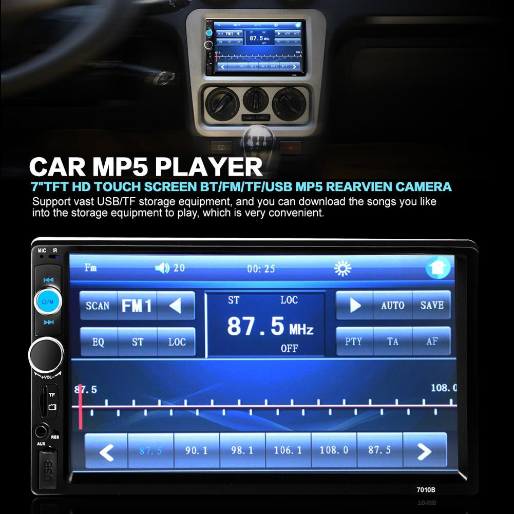 HOT!👍👍👍 Car Multimedia Radio MP5 Player Bluetooth HD Rear View  Camera👍👍👍