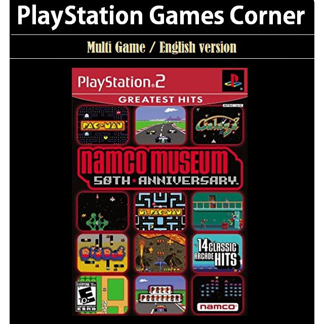 PS2 Game Namco Museum 50th Anniversary, Multi Game 14 in 1, English version / PlayStation 2