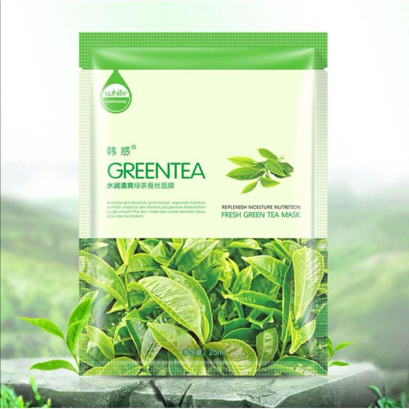 [ READY STOCK ]  Green Tea Cucumber Aloe Pearl Face Skin Mask Care Facial Mask White Jualan Murah Serum Makeup Lotion