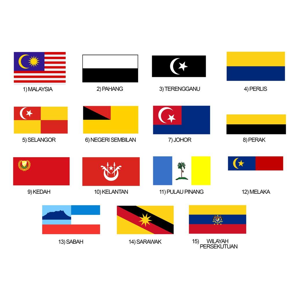 Merdeka Sales Msia Stock Malaysia Flag Bendera Malaysia Bendera Negeri Bendera States Flag Shopee Malaysia