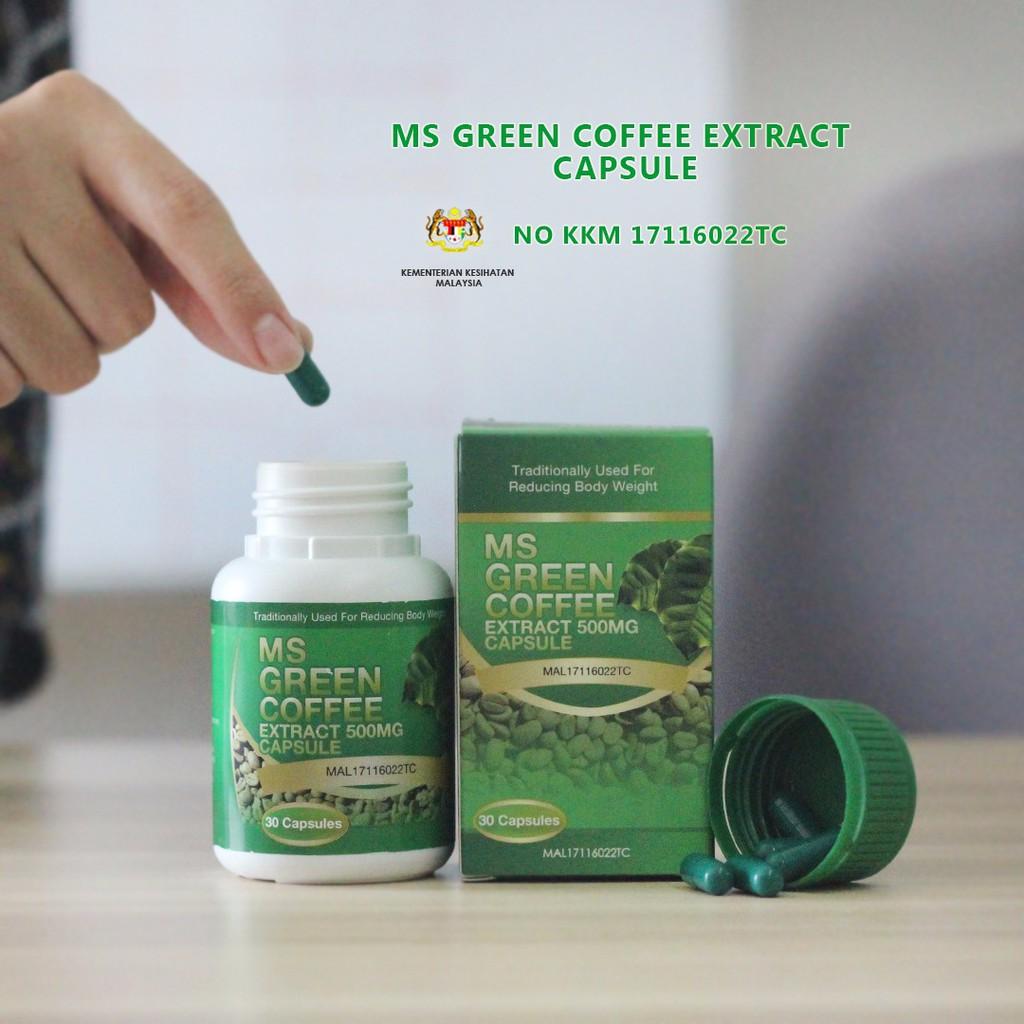 Espresso Coffee Green ~ Ms green coffee mg extract capsule shopee malaysia
