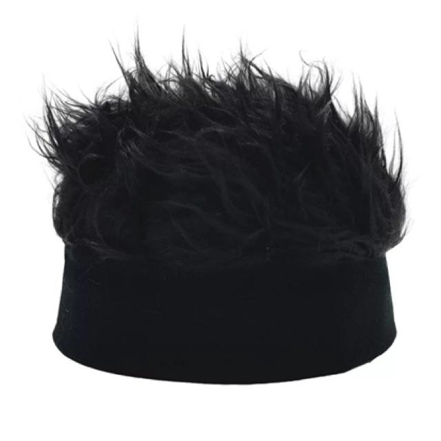 Hiphop Vintage fashion wig hat 假发帽子地主帽欧美复古嘻哈街头恶搞无檐水手瓜皮流氓毛线帽男女