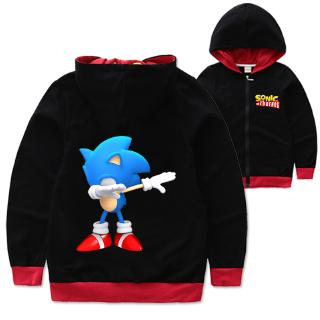 Sonic The Hedgehog Kids Zipper Hoodie Children S Hoodies Boys Jacket Kids Outerwear Shopee Malaysia