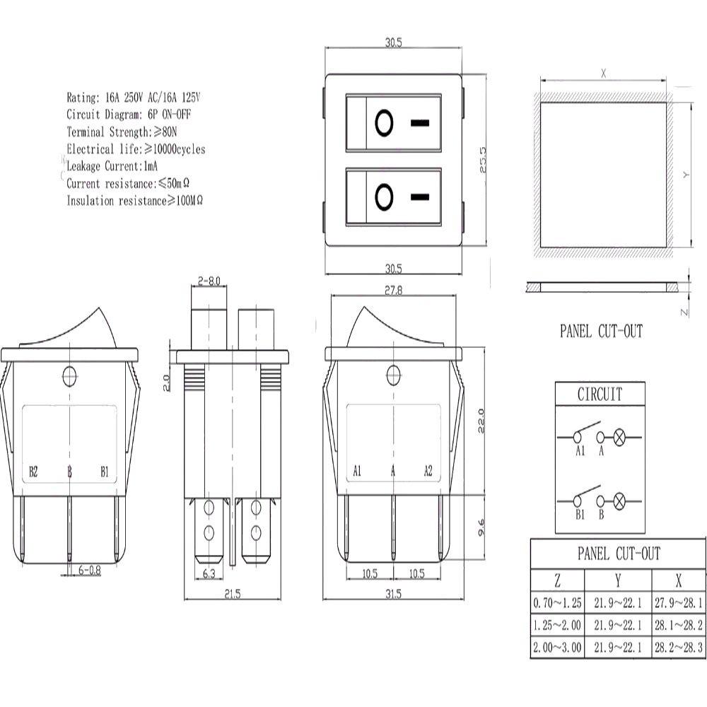 5pcs On New Mini 125vac Switch 6a Toggle Shopee Malaysia Spst Wiring Diagram