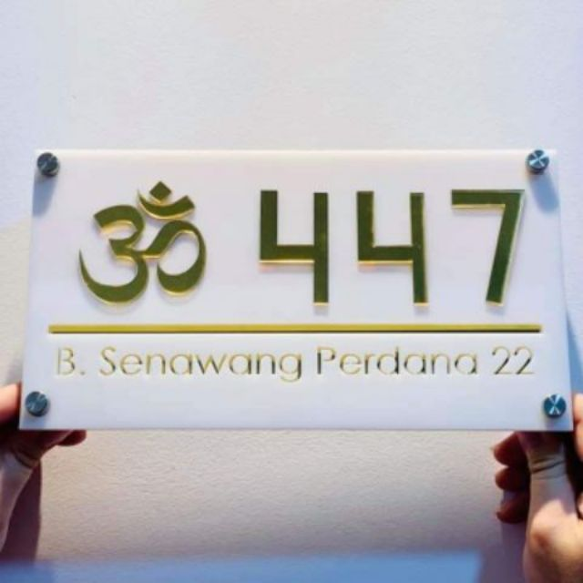 Modern 3D House Number Plate