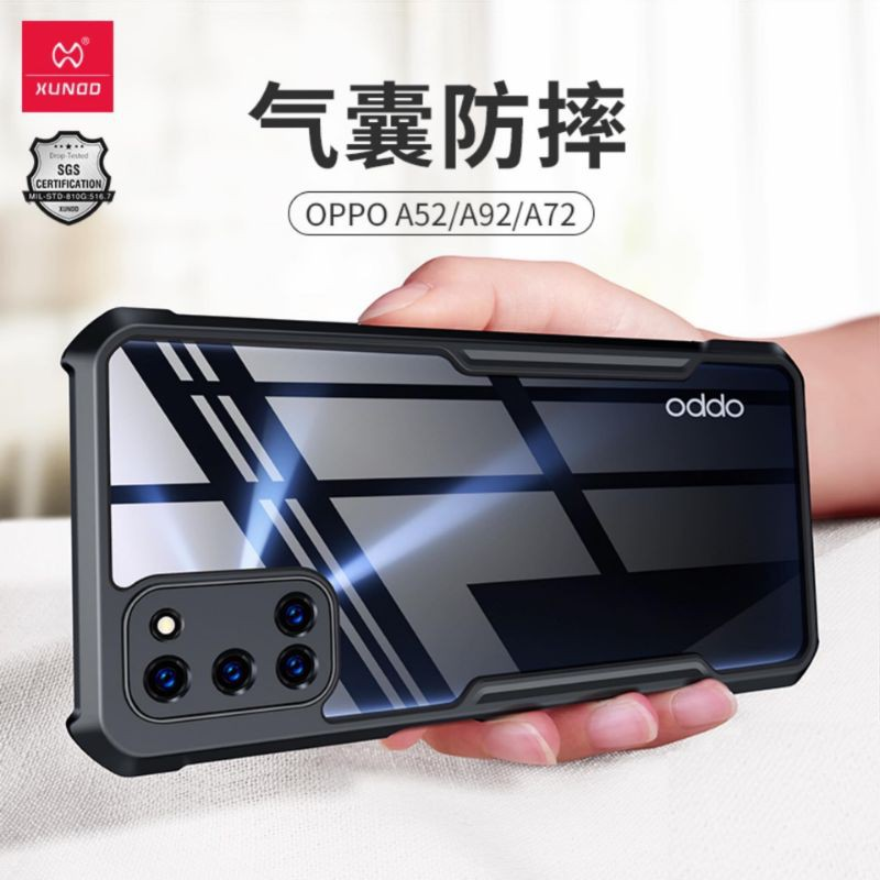 XUNDD Shookproof Case For OPPO A92 A52 A72 Case Protective Cover Airbag Bumper Transparent Shell  For OPPO Case