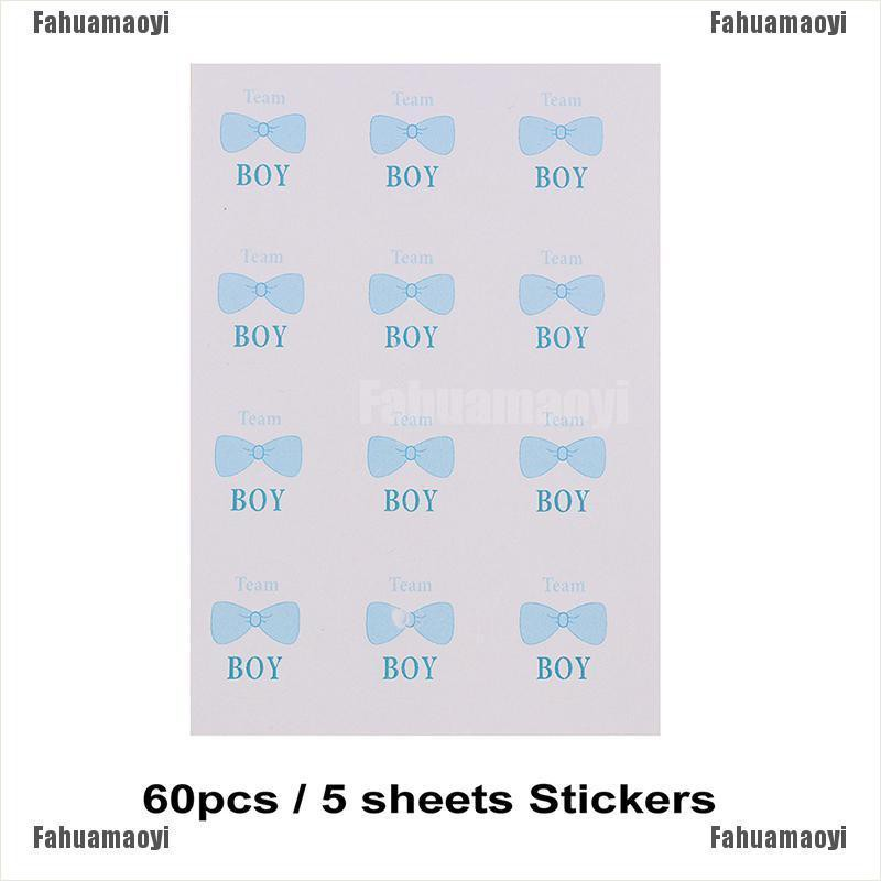 Baby Shower Sticker Boy Girl Gift Present Seal Stickers Labels 3cm