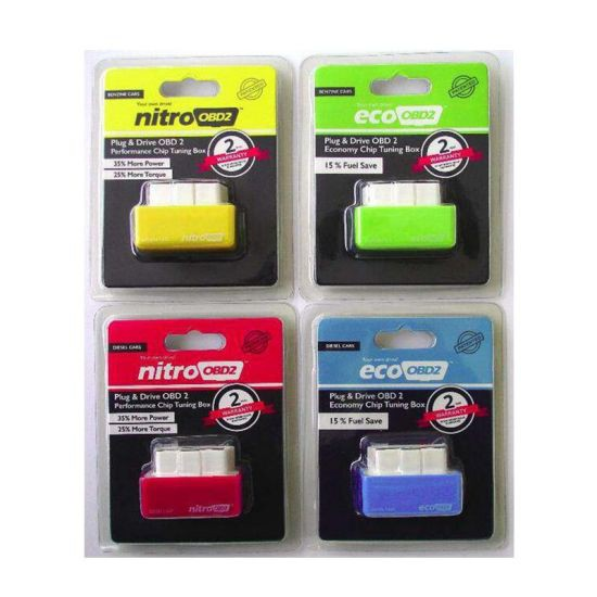 [FREE Gift] NITRO OBD2 Plug and Drive Chip Tuning Box Increase Engine Performance 35% & Fuel Saving up to 15%