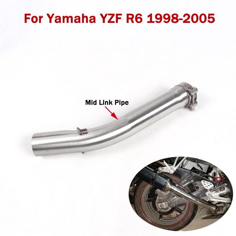 Stainless Steel Slip On Exhaust Muffler Easy Install for Yamaha YZF-R6 2008-2016