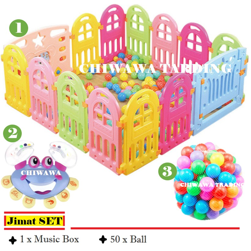 READYSTOCK  Extra FREE GIFT  Baby Safety Playground Play Fence Playpen Play Yard