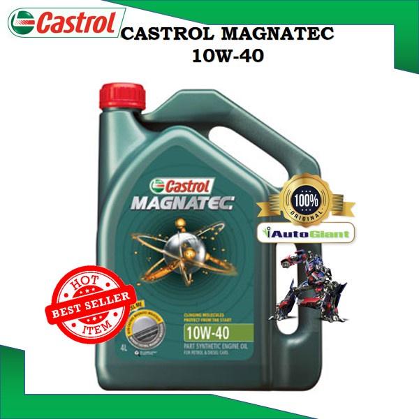 Castrol MAGNATEC 10W-40 SN for Petrol Vehicles (4L) (100% ORIGINAL)