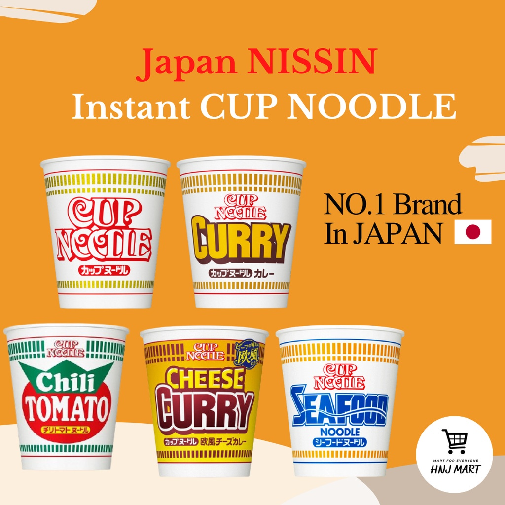 JAPAN NISSIN Instant Cup Noodle [5 FLAVORS] Shoyu/Curry/Cheese Curry/Seafood/Chili Tomato 日本日清拉面杯面