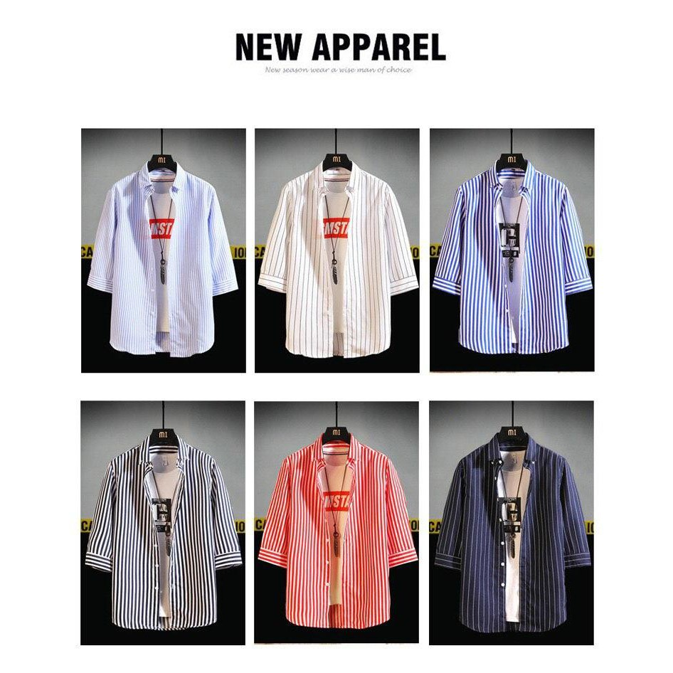 #Korean Fashion Men's Shirt# Half Sleeve Causal Shirt FashionStyle