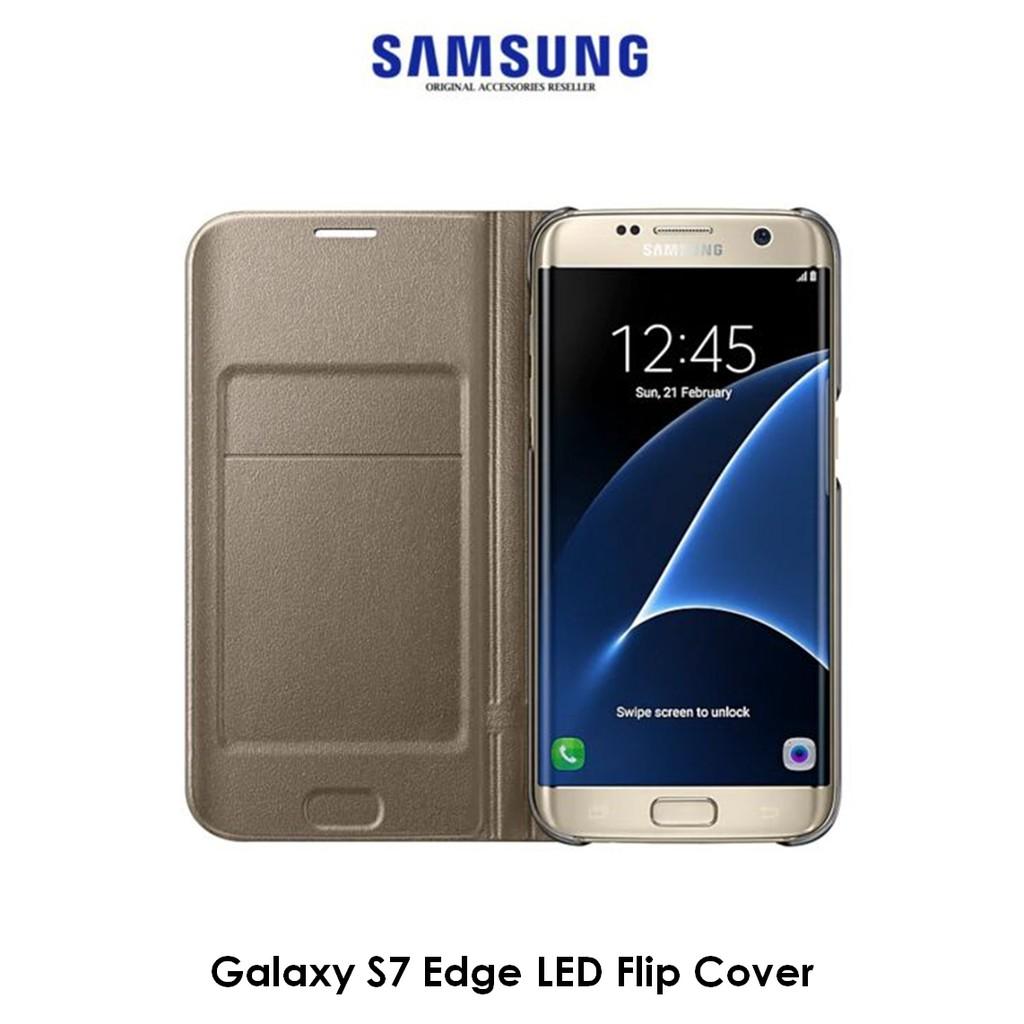 new concept 2b56a b9d49 ★ORIGINAL★ Samsung Galaxy S7 Edge LED View Cover Case S7 edge Casing