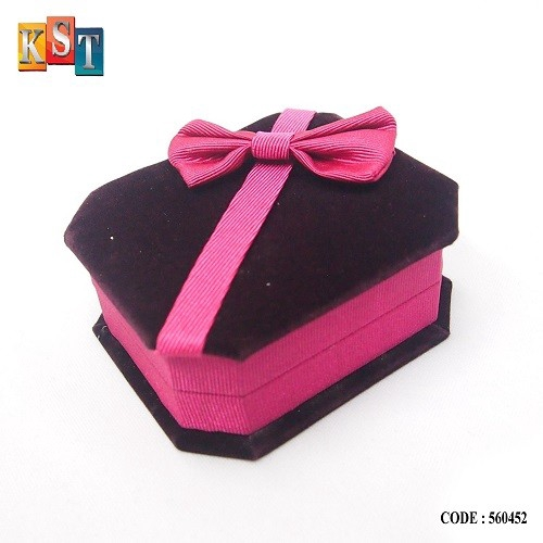 Gift Box Ring Jewellery Storage Organizer With Ribbon