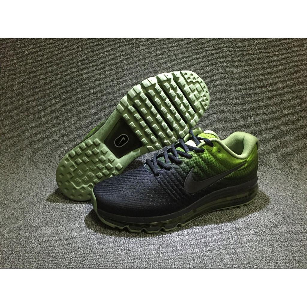 Black And Green Nike Air Max 2017 Black Green, Size: 41 45