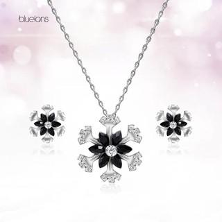 【Bluelans】Wedding Party Snowflake Pendant Jewelry Rhinestone Necklace Earrings Set Gift | Shopee Malaysia