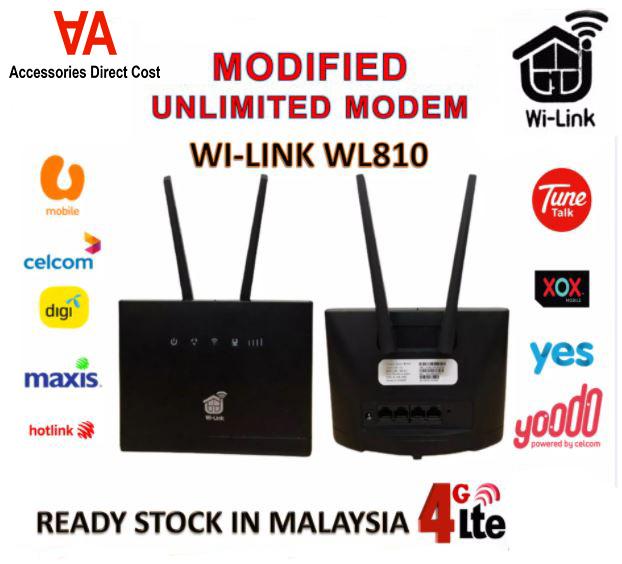 READY STOCK Modified Modem LTE CPE WI-LINK WL810 Modified WiFi MODEM UNLIMITED DATA HOTSPOT