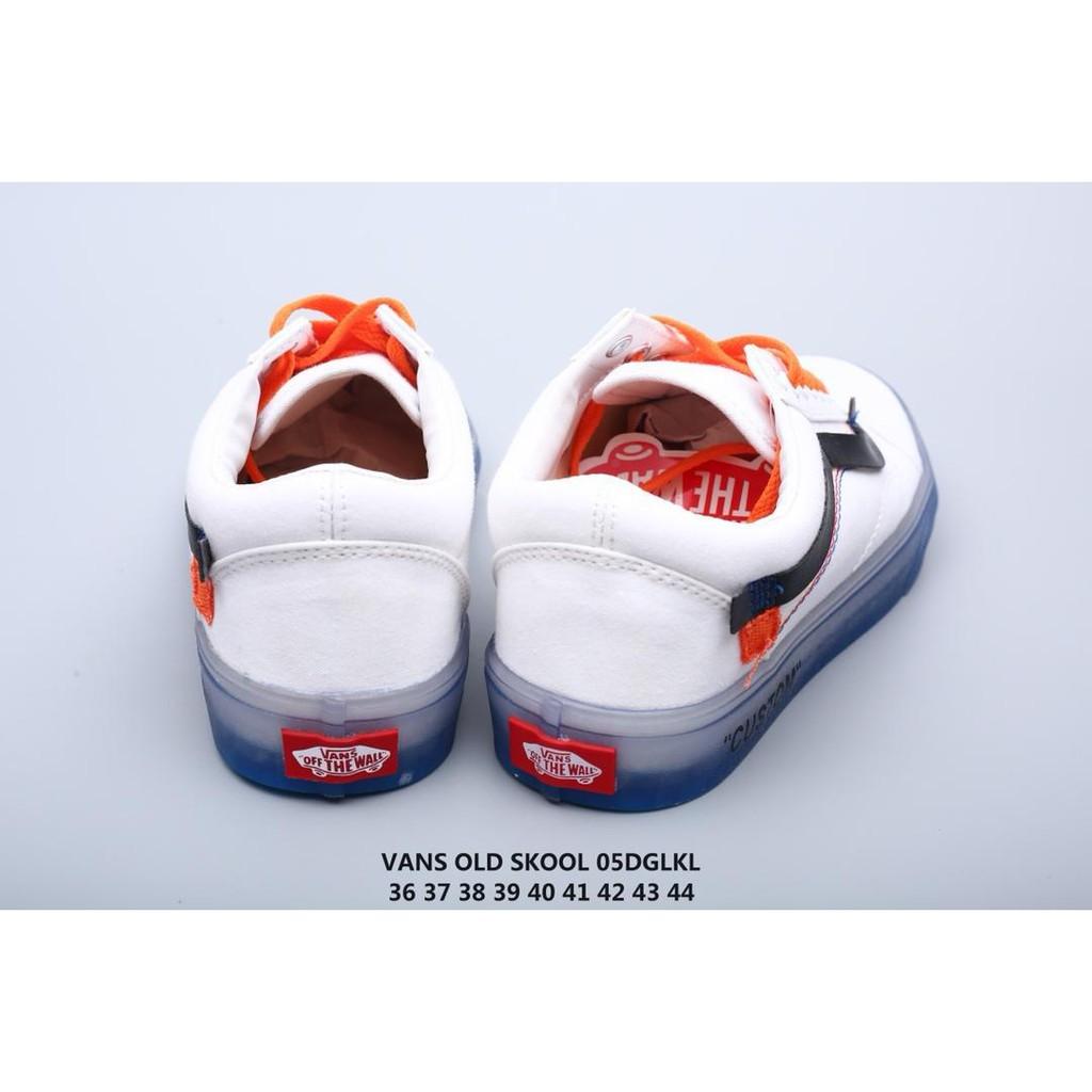 OFF WHITE x Vans Old Skool Co signed Vance Low Up Canvas Skateboard Shoes 05DGLK