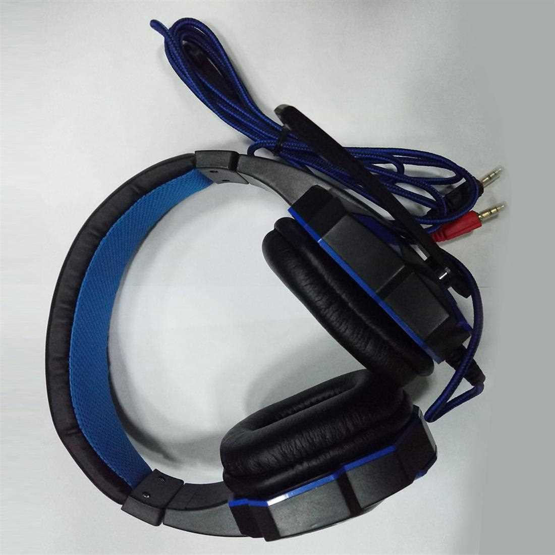 3.5mm Surround Stereo Gaming Headset Headband Headphone with Mic for PC (Blue)