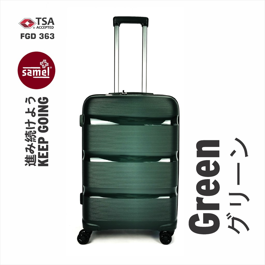 """2 IN 1 SET FGD 363 JAPANESES CONCEPT EXPANDABLE ANTI THEFT ZIPPER PP LUGGAGE 20"""" + 24"""""""
