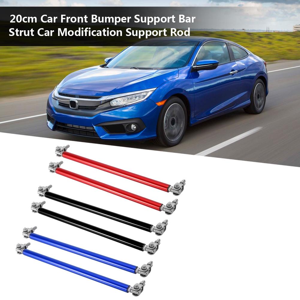 7.9/'/' Red Adjustable Front Car Bumper Lip Splitter Strut Rod Tie Support Bar 2Pc