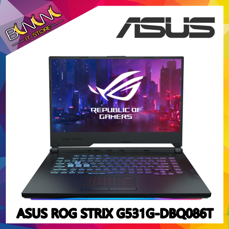 Asus ROG Strix G G531G-DBQ086T Intel® Core™ i5-9300H / 4GB / 512M 2 /  NVIDIA GeForce GTX1050