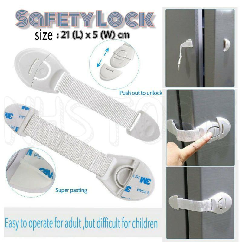 Safety Lock Door Cabinet Kitchen Protection Locker Multipurpose Strap Door Safety / Lock Almari Untuk Bayi Budak Selamat