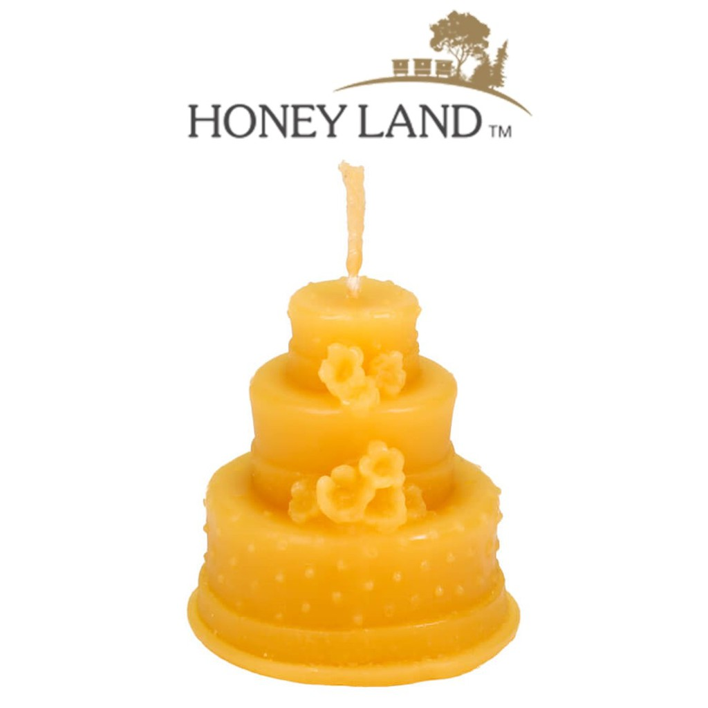 Honey Land™ Beewax Candle – Cake (40g) /lilin wax lebah Eco-friendly Gift Home Decor Lilin Hiasan [GIFT IDEA]